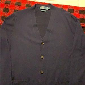 100% cashmere polo sweater cardigan
